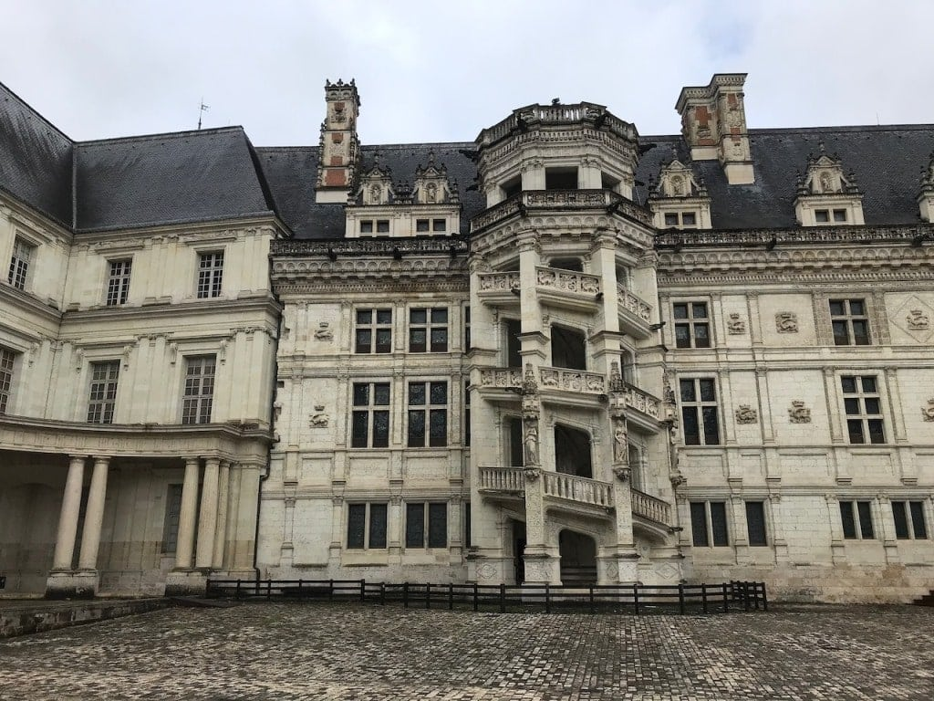 royal chateau of blois in france