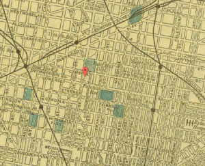 Map of Fairhill, 1903