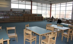 The library space at Julia de Burgos Elementary