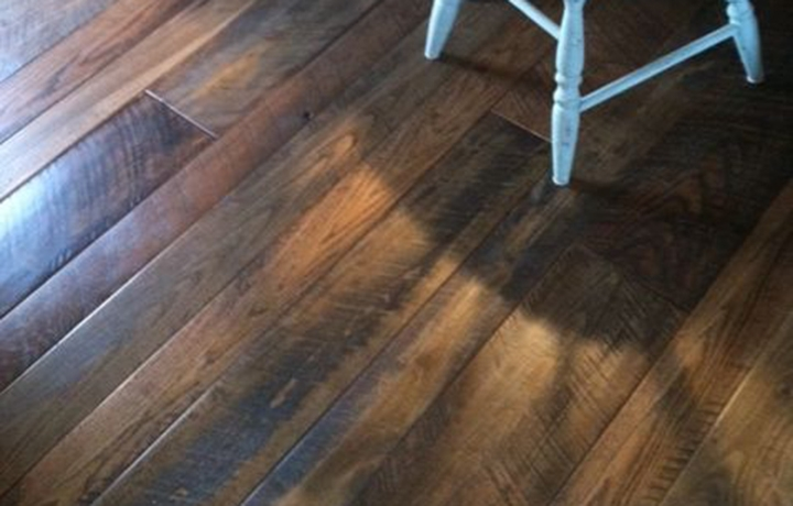 Nashville, TN Private residence – Pre-sanded with micro-bevel, sanded smooth. Customer chose darker stain mixed with Waterlox, hand-rubbed with 3 coats of Vermont PolyWhey.