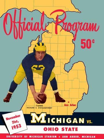 michigan vs ohio state poster 1953