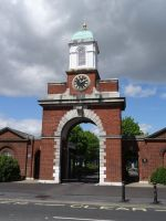 The entrance to the barracks in 2014