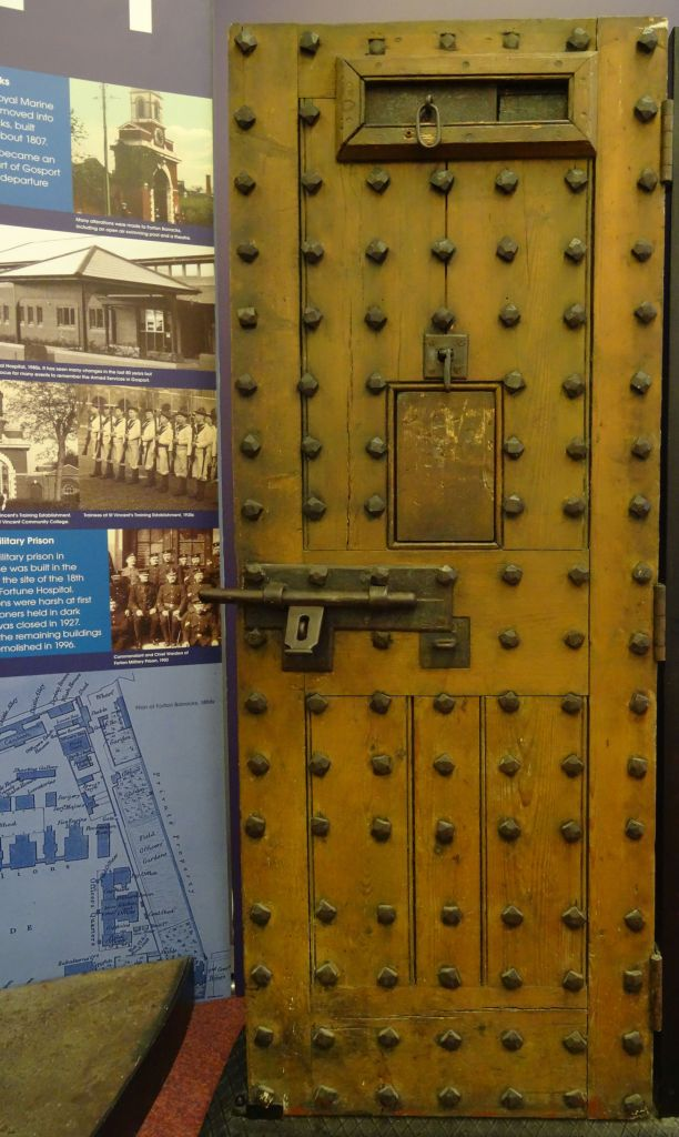 Forton Detention Barracks: One of the cell doors rescued from the demolition