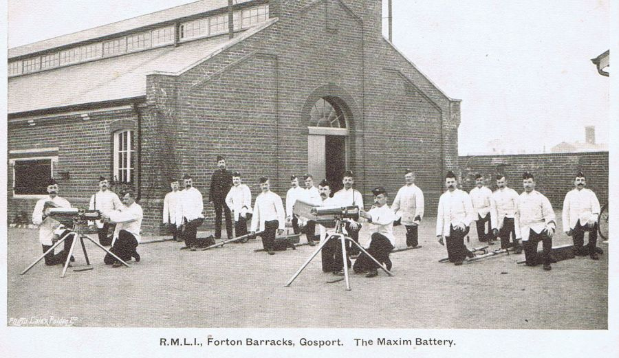 Maxim Battery at Forton Barracks