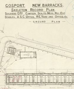 New Barracks Gosport Plan