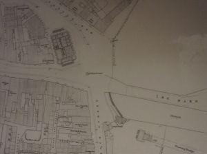 An early map circa 1860 showing the new location of the fountain at the end of the High Street.