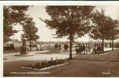 The Gambier fountain when it was located in the Ferry Gardens at Gosport