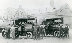 The pumping Station can be seen in the background of this old photo of the Westfield Road Depot