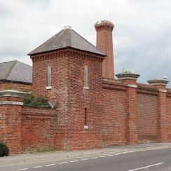 The wall of the Gunboat Yard and the entrance to the Haslar Experimental works