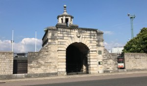 Landport Gate as it is today, still in its original position.