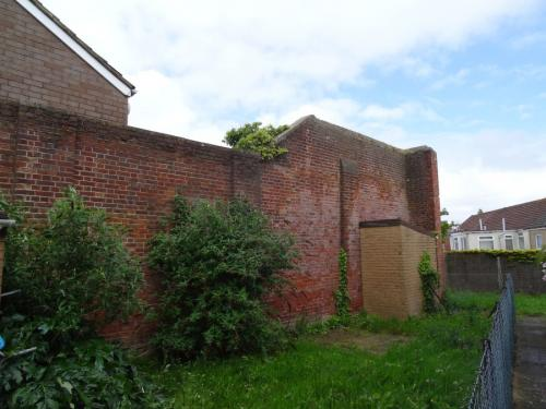 Forton Detention Barracks: The loopholed wall.