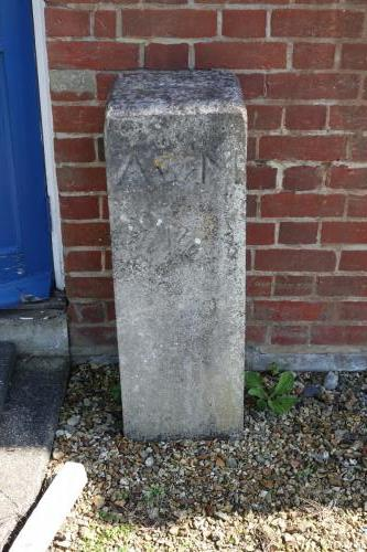 Admiralty Marker in HMS Sultan formerly from the land adjacent to Mile Alley