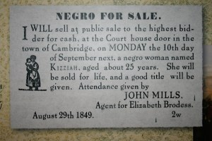 Tubman's niece Kezziah managed to escape from the auction where she was to be sold. Picture by Joyce Gregory Wyels.