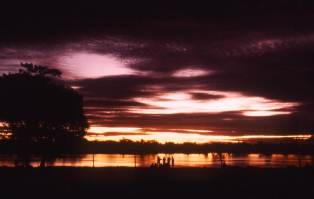 Sunset on Sepik