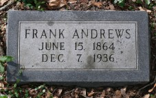 Frank Andrews tombstone