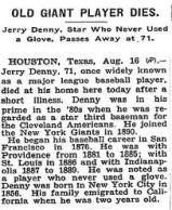 Holy Cross -- Jerry Denny