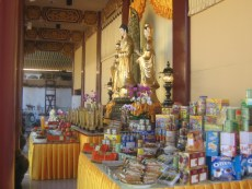 Hungry ghost offerings at a Buddhist Temple