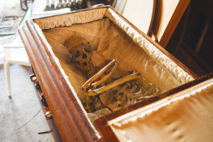 Odd Fellows Coffin