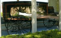 Memorial Oaks old hearse