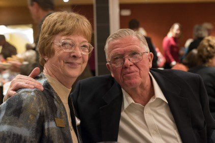 Rita Peterson, record-holding 32-year member of JCHC, with her husband Dave at the Hall of Fame event. Photo by Matthew Lewis.