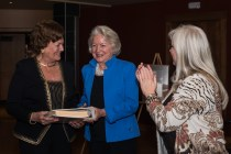 Valerie Horan and Nancy Knowlton, granddaughters of Hall of Fame honoree George W. Olinger, are recognized at the Hall of Fame event. Photo by Matthew Lewis.