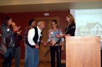 Alderfer family members with JCOS's Mary Ann Bonnell at the landmark presentation.