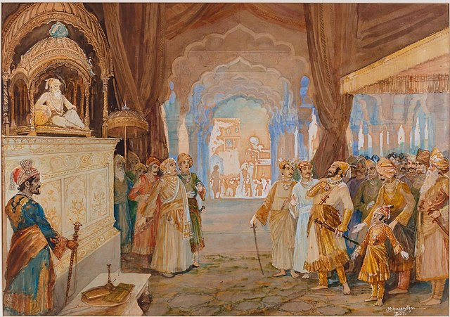 Shivaji Maharaj at Aurangazeb's Court