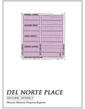del norte place,map,historic,district,neighborhood,area,phoenix,arizona
