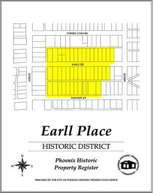 earll place historic district,map,historic,district,homes,neighborhood,area,phoenix,arizona