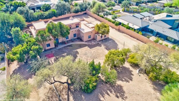 for sale,home,camelback mountain,arcadia,neighborhood,pueblo revival,historic,adobe construction,real estate,phoenix,dr charles c bradbury house,drone aerial