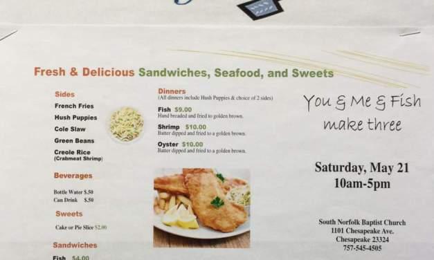 SNBC hosts fish fry, 10-5, May 21
