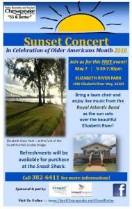 Free Concert May 7 - Elizabeth Landing Park