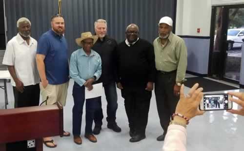 Capt. Dunlap with civic league presidents