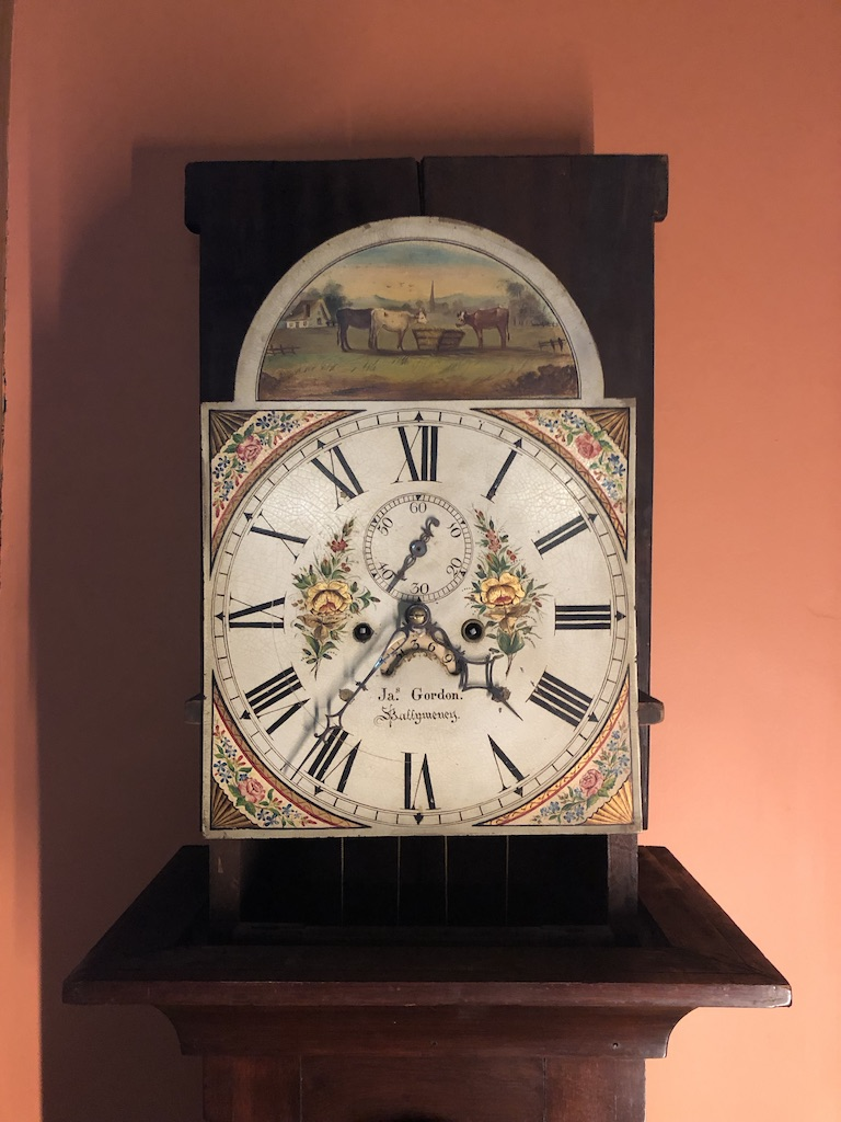 Face of Grandfather Clock Without Hood