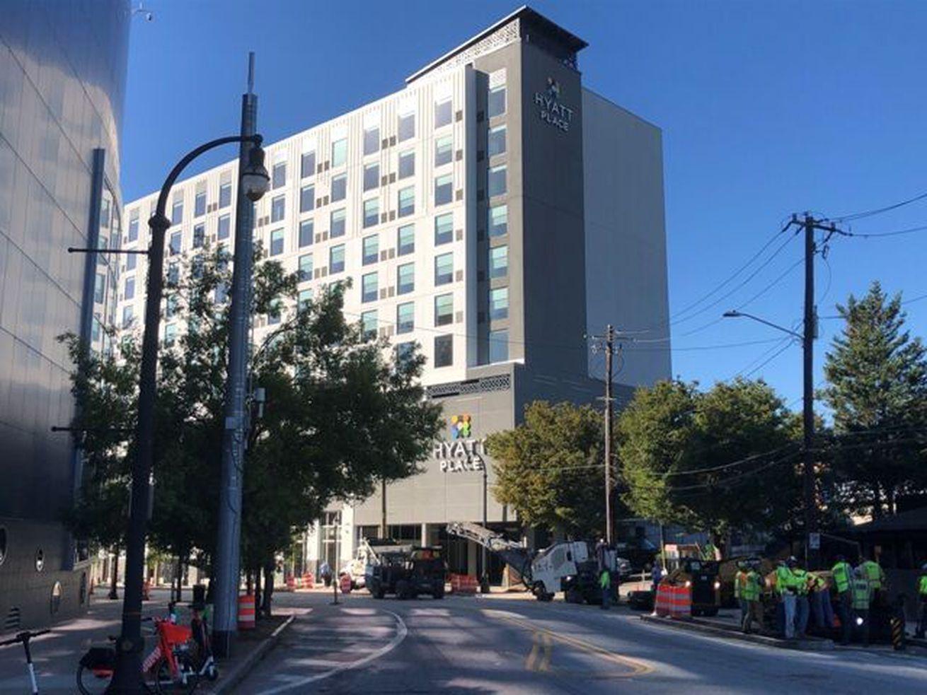 Downtown's latest hotel debuts, overlooking Georgia Aquarium