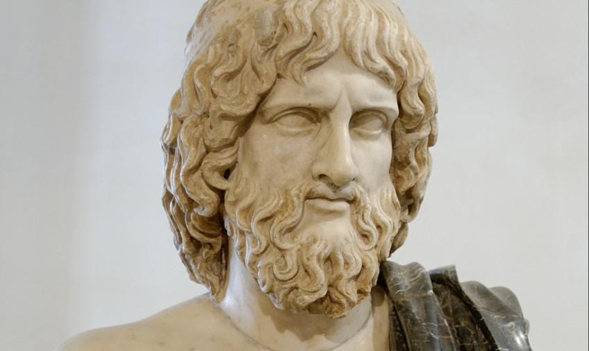Marmeren buste van Hades - Romeins kopie naar een Grieks origineel uit ...