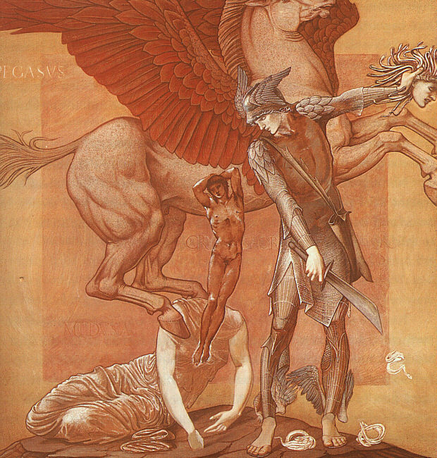 De geboorte van Pegasus en Chrysaor, Edward Burne-Jones, 1876-1885