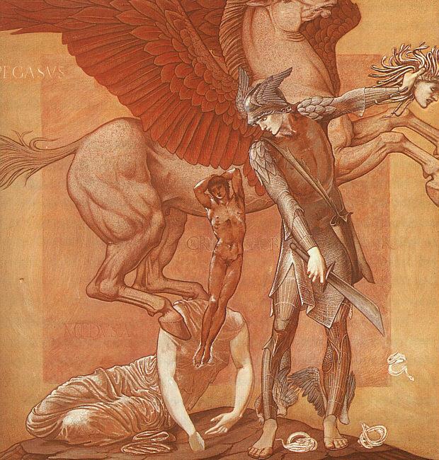 De geboorte van Pegasus en Chrysaor, Edward Burne-Jones, 1876-1885