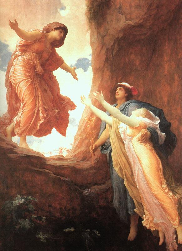 De terugkeer van Persephone - Frederic Leighton, 1891