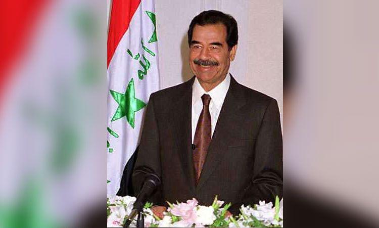 Saddam Hoessein als president van Irak