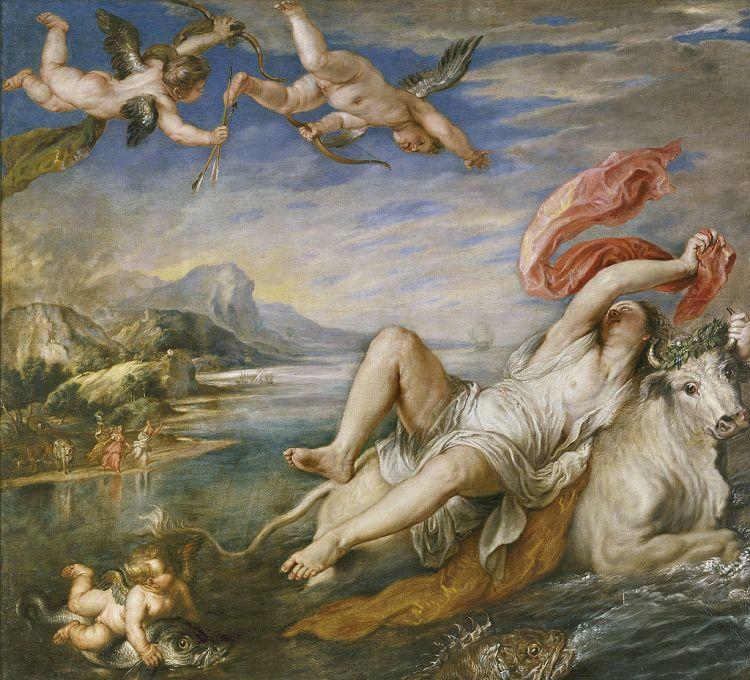 Zeus als Stier die Europa ontvoert - Peter Paul Rubens