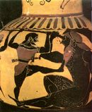 Polyphemos verliest zijn oog