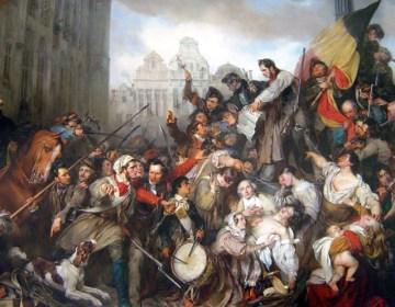 Tafereel van de Septemberdagen 1830 op de Grote Markt te Brussel, Gustaaf Wappers, 1835