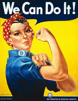 Bekende poster van 'Rosie the Riveter' - J. Howard Miller, 1942