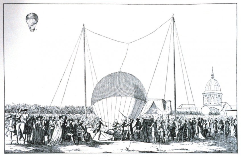De ballonvaart van Pilâtre de Rozier op 15 oktober 1783