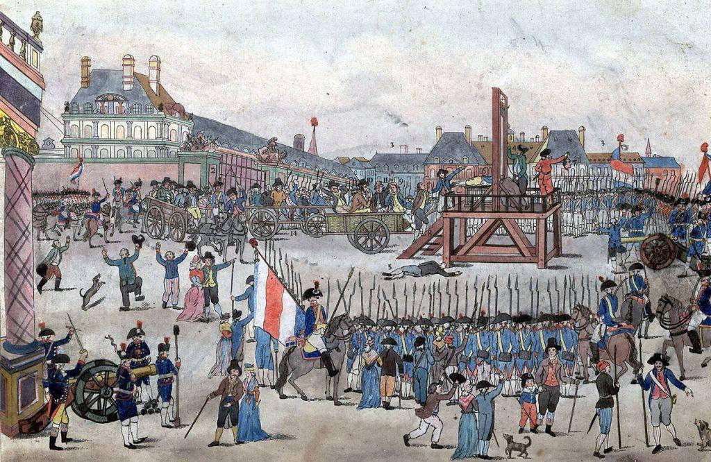 Executie van Robespierre op de Place de la Concorde