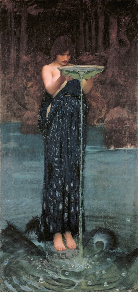 Circe giet gif in de zee - Waterhouse