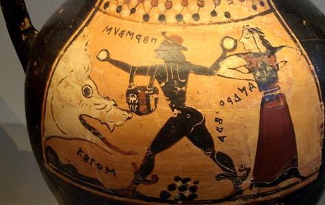 Korinthische vaas die Perseus, Andromeda en Ceto voorstellen - cc