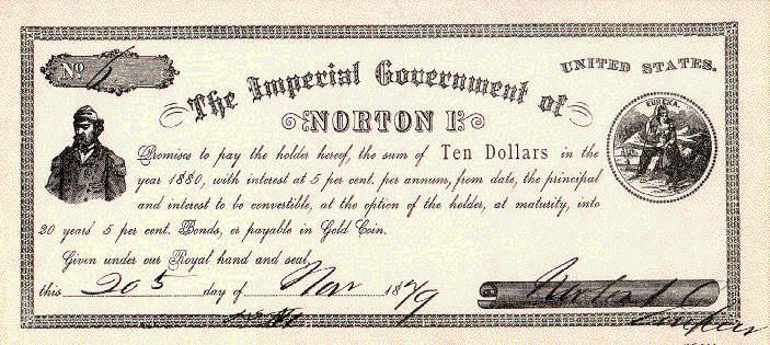 Bankbiljet van Joshua Norton