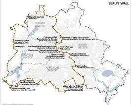 Kaart van de Berlijnse Muur - Afb: CC